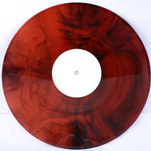 marbled red black